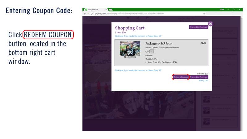 coupon redemption help sb